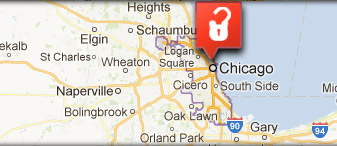 Locksmith Chicago, IL - Map